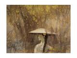 Woman in Spring Rain