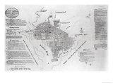 "Plan of Washington Dcirca  Pub in ""Gazette of the United States "" Philadelphia  January 4th 1792"