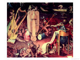 The Garden of Earthly Delights: Hell  Detail from the Right Wing of the Triptych  circa 1500