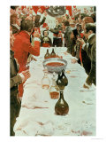 A Banquet to Genet  Illustration from Washington and the French Craze of '93 by John Bach Mcmaster