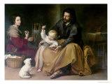 The Holy Family with the Little Bird  circa 1650