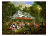 Festival Given by the Prince of Conti to the Prince of Brunswick-Lunebourg at L'Isle-Adam  1766