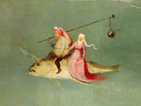 The Temptation of St Anthony  Right Hand Panel  Detail of a Couple Riding a Fish
