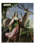 Marie De Rohan-Montbazon (1600-79) Duchess of Chevreuse as Diana the Huntress