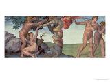 Sistine Chapel Ceiling (1508-12): the Fall of Man  1510 (Post Restoration)