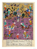 "Siavosh Playing Polo with Afrasiab  from ""Firdawsi's Shahnama"""