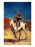 Don Quixote and Sancho Panza  circa 1865-1870