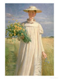 Anna Ancher Returning from Flower Picking  1902