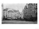 Place Maubert from the Marche Des Carmes  Paris 1858-78