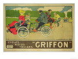 """Poster Advertising """"Griffon Cycles  Motos & Tricars"""""""