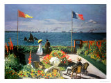 The Terrace at Sainte-Adresse  1867