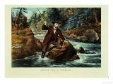 Brook Trout Fishing  an Anxious Moment  1862