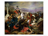 The Battle of Poitiers  25th October 732  Won by Charles Martel (688-741) 1837