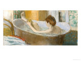 Woman in Her Bath  Sponging Her Leg  circa 1883