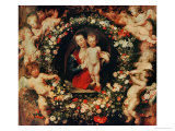 Virgin with a Garland of Flowers  circa 1618-20