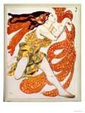 "Costume Design for a Bacchante in ""Narcisse"" by Tcherepnin  1911"