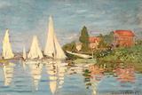 Regatta at Argenteuil, C.1872 Reproduction d'art par Claude Monet