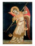 An Angel Weighing a Soul  circa 1348-55