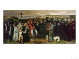 Burial at Ornans  1849-50