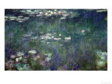 Waterlilies: Green Reflections  1914-18 (Central Section)