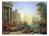 Seaport with the Embarkation of St Ursula