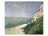 Beach at Bas Butin  Honfleur  1886