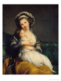 Self Portrait in a Turban with Her Child  1786
