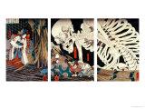 Mitsukini Defying the Skeleton Spectre  circa 1845