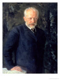 Portrait of Piotr Ilyich Tchaikovsky (1840-93)  Russian Composer  1893