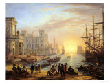 Sea Port at Sunset  1639