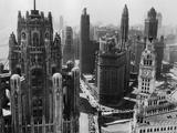 Gratte-ciel de Chicago au début du 20e siècle Papier Photo par Bettmann