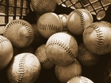 Crate Full of Worn Softballs