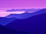 Great Smoky Mountains Under a Purple Sky