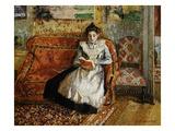 Jeanne Pissarro, Reading Giclée par Camille Pissarro