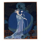 Lady With a Dragon Giclée par Georges Barbier