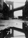 Puddle Reflecting Brooklyn Bridge