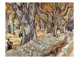 Road Menders in a Lane With Heavy Plane Trees Giclée par Vincent Van Gogh