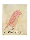 The Pink Bird Giclée par Edward Lear