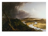 View from Mount Holyoke  Northampton  Massachusetts  after a Thunderstorm - The Oxbow
