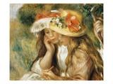 Jeunes filles dessinant Giclée par Pierre-Auguste Renoir