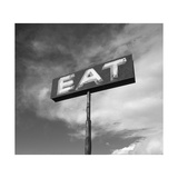 "Vintage ""Eat"" Restaurant Sign Reproduction d'art par Aaron Horowitz"