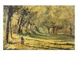 Woman in the Forest Giclée par Claude Monet