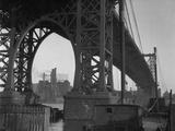 Williamsburg Bridge Spanning East River