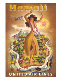Hawaii  United Air Lines  Hula Dancer