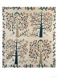 An Appliqued Cotton Quilted Coverlet  American  Mid 19th Century