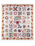 An Appliqued and Pieced Album Quilt  Maryland  Mid 19th Century