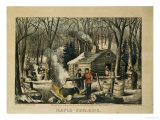 Maple Sugaring  Early Spring in the Northern Woods  1872