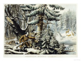 American Winter Sports  Deer Shooting On the Shattagee  1855