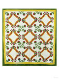 A Pieced and Appliqued Cotton Quilted Coverlet  North Carolina  circa 1850