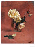 Still Life with Roses in a Glass
